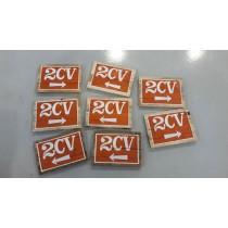 Señal 2CV de madera